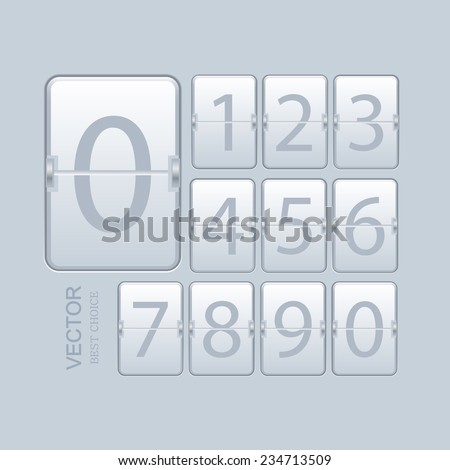 Vector modern numeric scoreboard set. Eps 10 - stock vector
