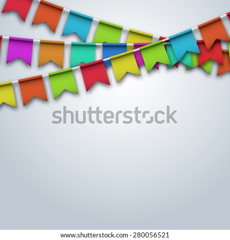 Vector modern party flags background. holiday design - stock vector