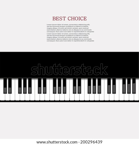 Vector modern piano background. Eps 10 illustration - stock vector