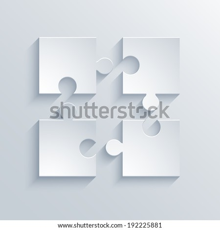 Vector modern puzzle icons background. Eps10 illustration - stock vector