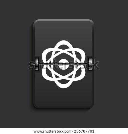 vector modern radiation scoreboard black icon. Eps 10 - stock vector