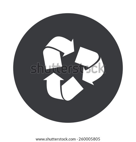 Vector modern recycle gray circle icon on white background - stock vector