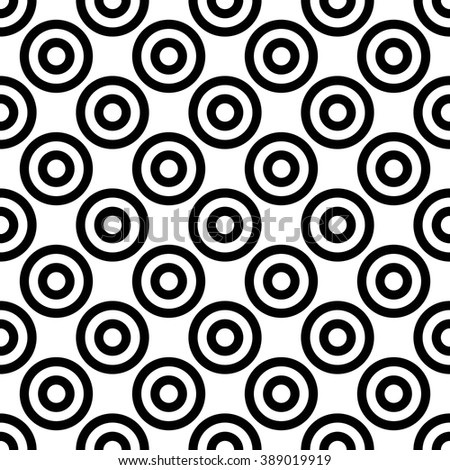 Vector modern seamless geometry pattern polka, black and white abstract geometric background, pillow print, monochrome retro texture, hipster fashion design - stock vector
