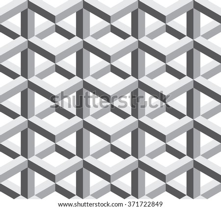Vector modern seamless sacred geometry pattern trippy , black and white abstract geometric background, pillow print, monochrome retro texture, hipster fashion design - stock vector