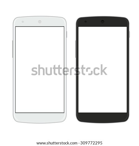 Vector modern smartphones isolated on white background
