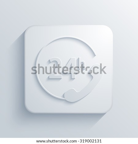 Vector modern support light icon with shadow - stock vector