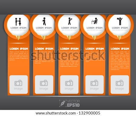 Vector Modern Tag hanging Design template / can be used for infographics / numbered banners / vertical cutout lines / graphic or website layout vector / brochure object - stock vector