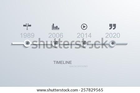Vector modern timeline infographic. Business development. Eps10 - stock vector