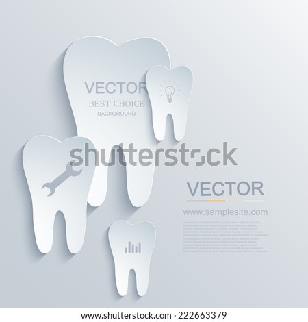 Vector modern tooth infographic background. medicine element design. Eps10 - stock vector
