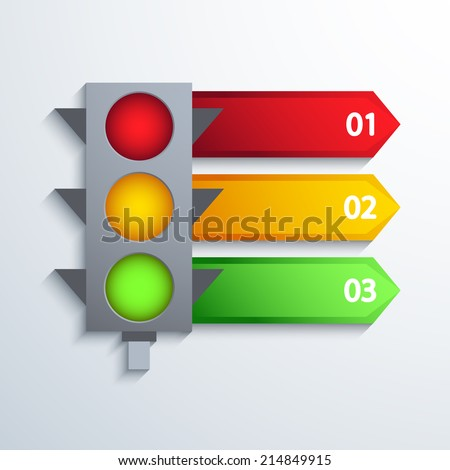 Vector modern traffic infographic background. Eps 10 - stock vector