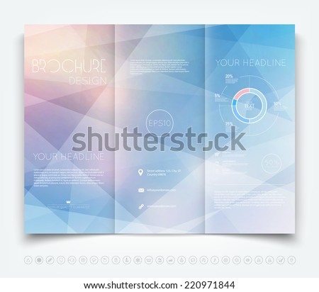 Vector Modern Trifold Brochure Design Template Stock Vector - Brochure design template