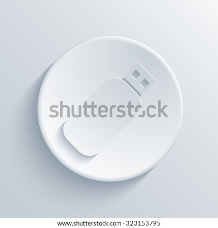 Vector modern usb light circle icon with shadow