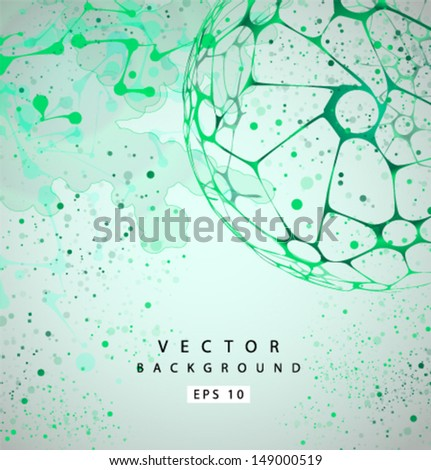 Vector molecular Structure grunge background - stock vector