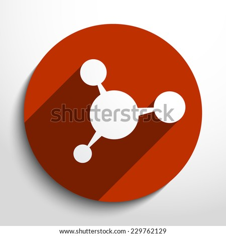 Vector molecule web icon.Eps10.  - stock vector