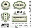 Vector Money Frames and Ornaments. Easy to edit. All layers are separated. - stock photo