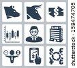 Vector money, stock exchange icons set - stock vector