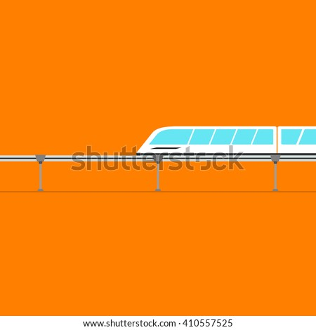 vector monorail, icon for commercial use - stock vector