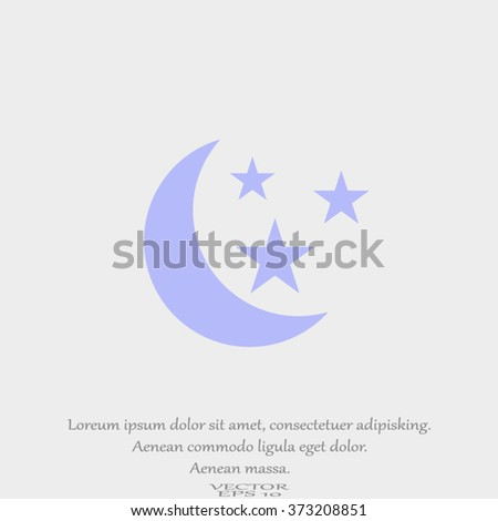 vector moon and stars - stock vector