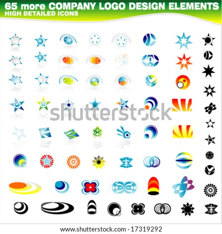 VECTOR 65 more Corporate logos design elements - stock vector