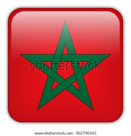 Vector - Morocco Flag Smartphone Application Square Buttons - stock vector