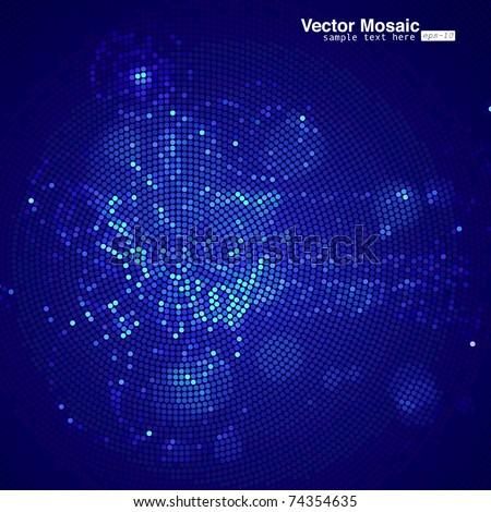 vector mosaic - stock vector
