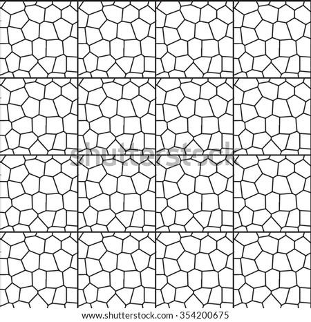 Vector mosaic pattern - stock vector