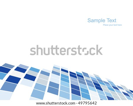vector mosaic pattern design - stock vector