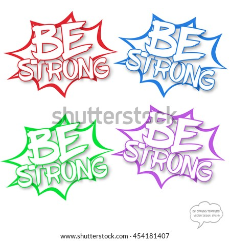Vector Motivational Comics Bubble Stamp Template Stock Vector