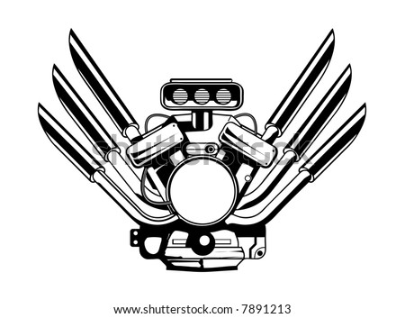 V8 Engine Cartoon Drawing additionally Spark Plug Window in addition Biker skull furthermore V8 Engine Piston also Custom Decals. on v8 engine tattoos