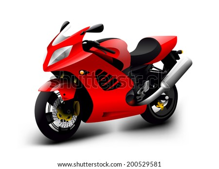 vector motorcycle illustration - stock vector