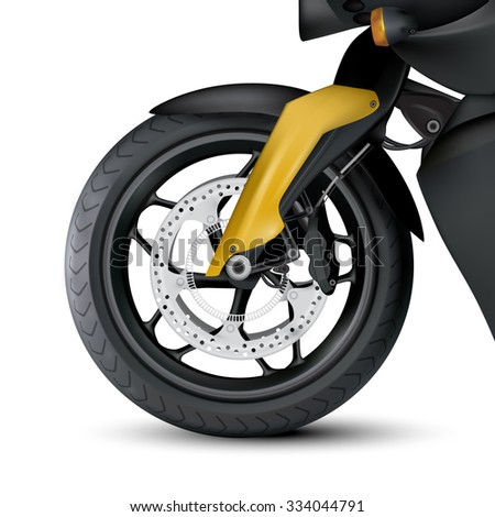 vector motorcycle wheel - stock vector