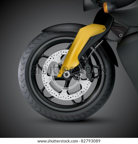vector motorcycle wheel