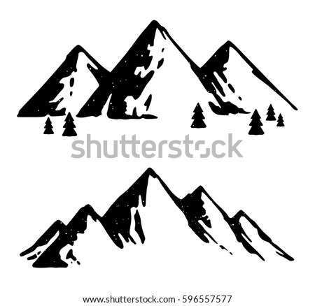 Mountain Silhouette vector mountain silhouette isolated transparent background stock
