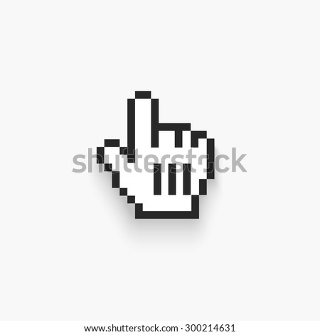 Vector Mouse hand cursor. Isolated on white - stock vector