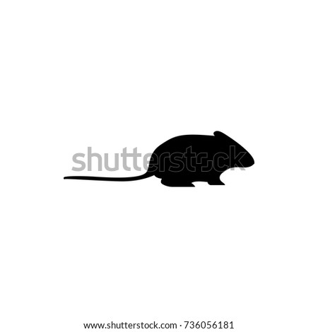 Vector Mouse Silhouette View Side Retro Stock Vector 736056181 ...