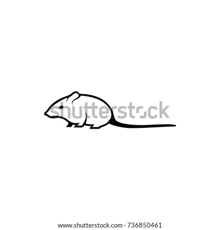 Vector Mouse Silhouette View Side Retro Stock Vector 736850461 ...