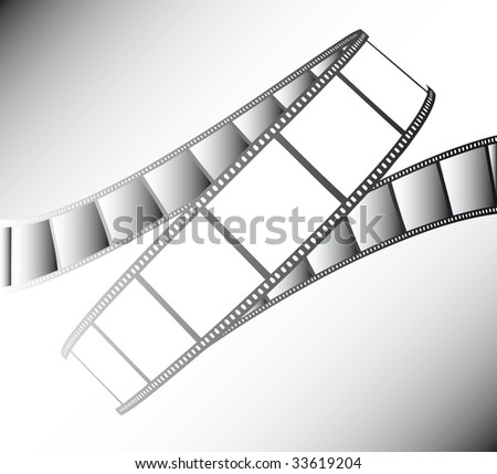 vector movie/photo film - illustration on gradient background - stock vector