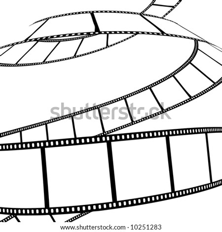 vector movie/photo film - illustration on white background - stock vector