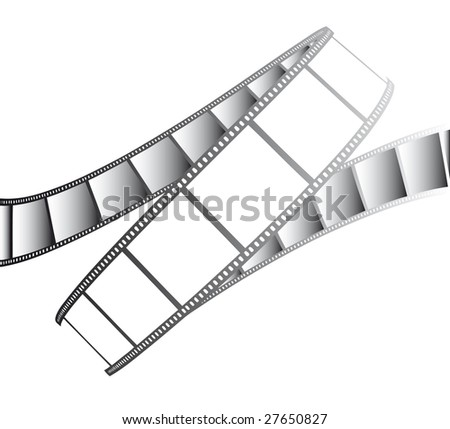 vector movie/photo film - isolated illustration on white - stock vector