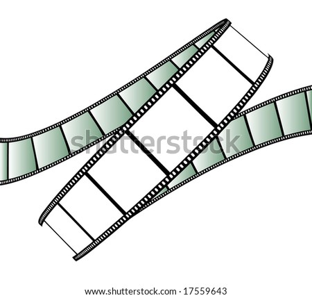 vector movie/photo film - isolated illustration on white background - stock vector