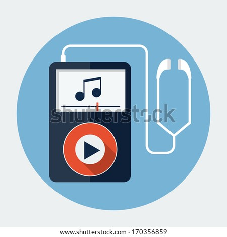 Vector mp3 music player  - stock vector