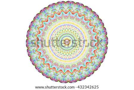 vector multicolor kaleidoscopic circle - stock vector