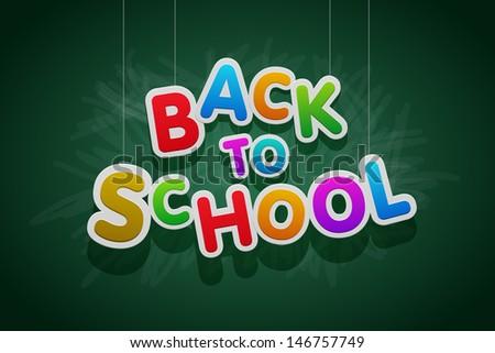 "Vector multicolored ""Back to School"" text. - stock vector"