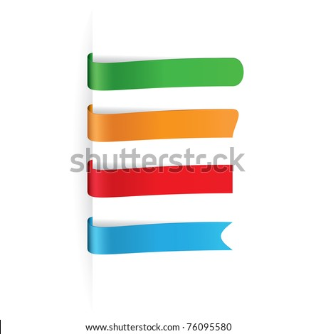 vector multicolored paper tags for any items - stock vector