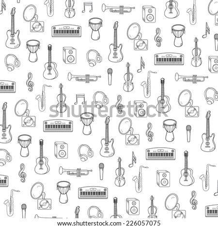 Vector music background - stock vector