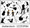 vector - music elements - stock photo
