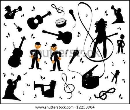 vector - music elements - stock vector