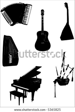 vector music instruments