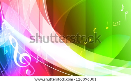 vector music note background design, vector - stock vector
