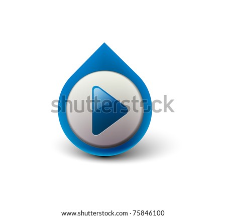 vector music play icon for web design element. - stock vector